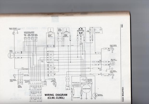 a wiring diagram for the cl 90